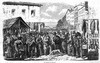El Rastro de Madrid, de Daniel Perea, publicado en 1859 en El Museo Universal.